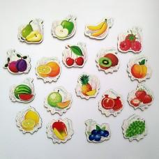 Набір дитячих магнітів з фруктами та ягодами