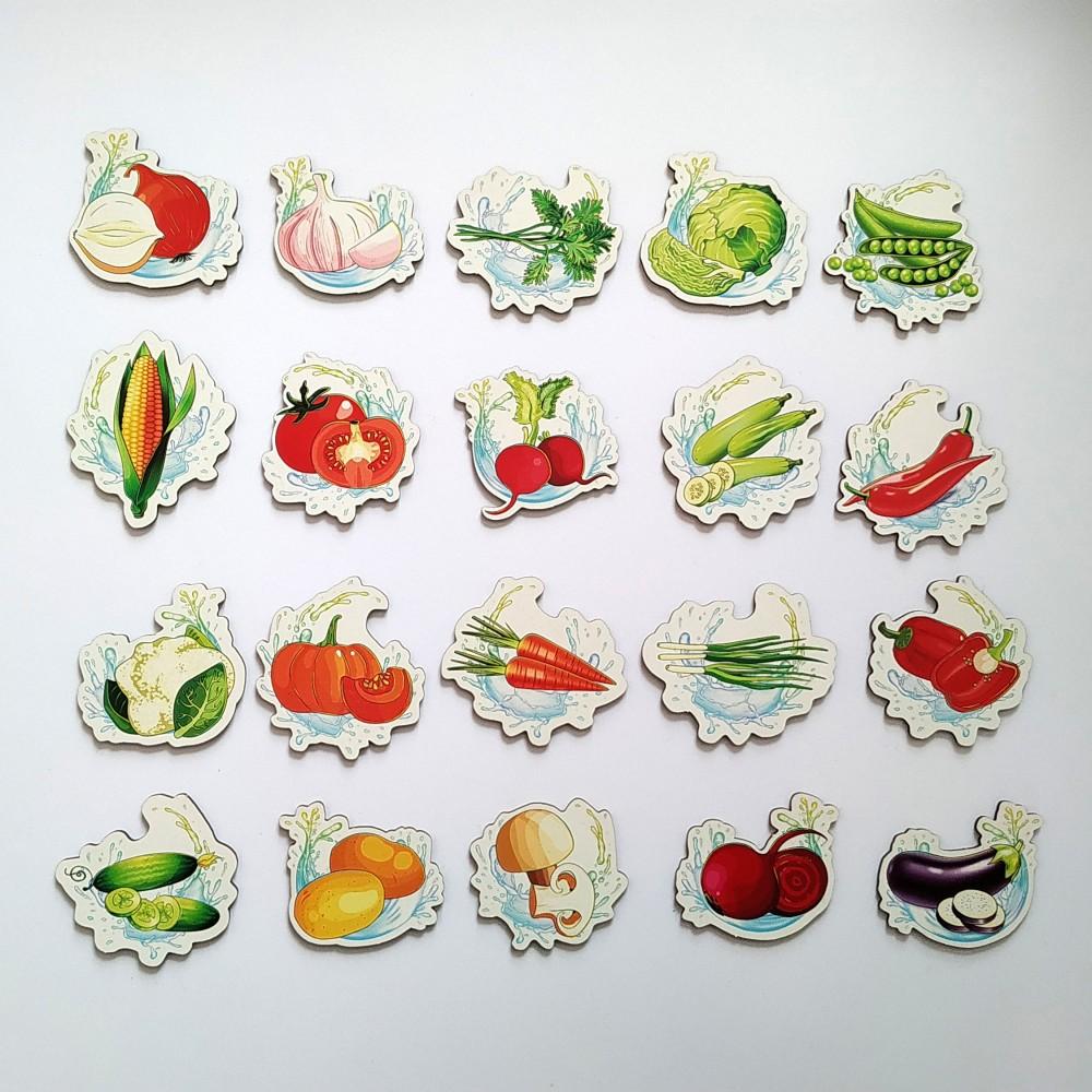 Дитячі магнітики на холодильник з овочами