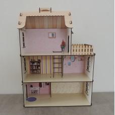 Дерев'яний будинок для ляльок з фанери великий