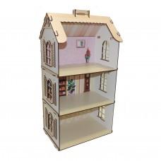 Дерев'яний будинок для ляльок LOL з фанери