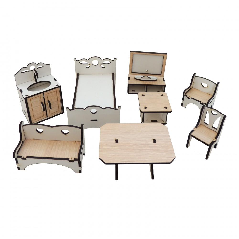 Набір меблів для будинка для ляльок LOL №1