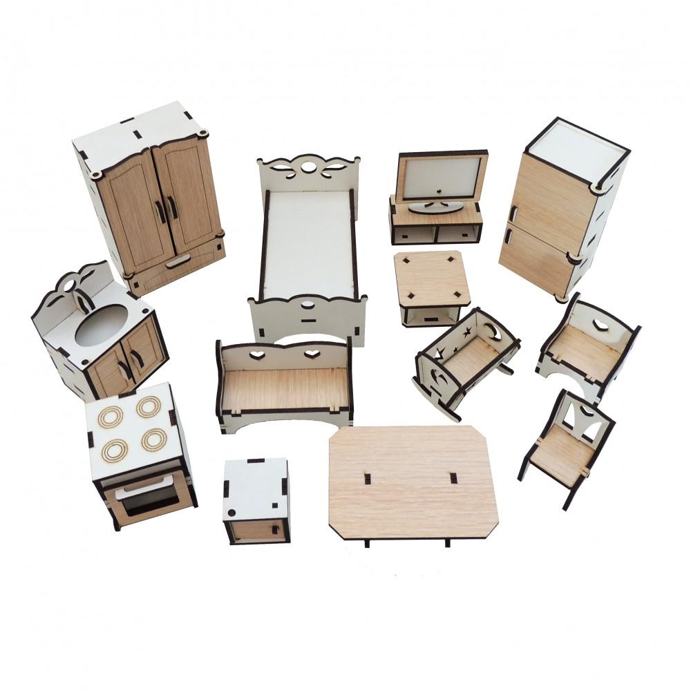 Набір меблів для будинка для ляльок LOL №2