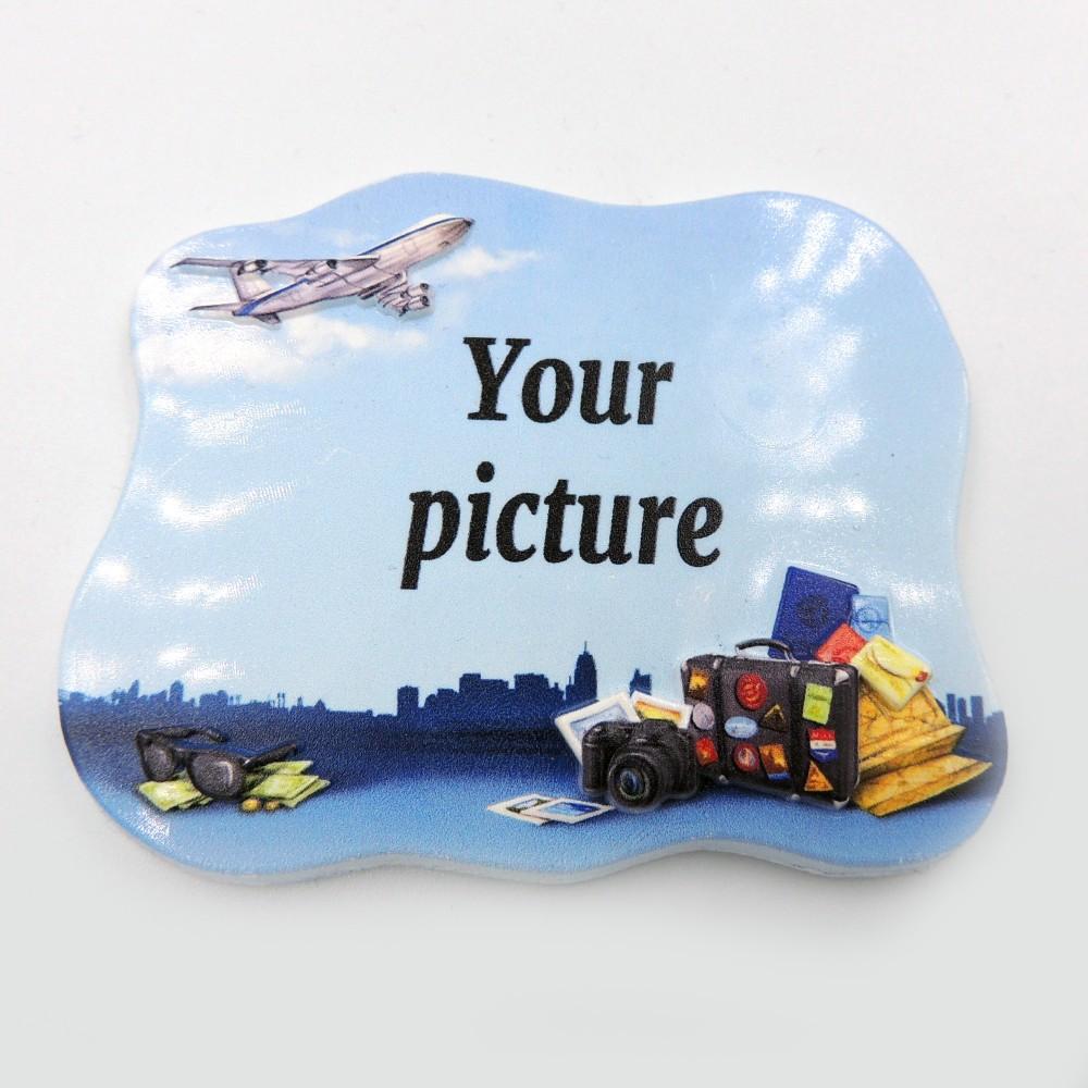 Керамічна заготовка для магніта - Літак і валіза