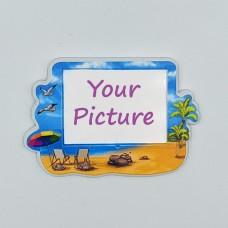 Керамический магнит под вставку Пляж № 2 с изображением