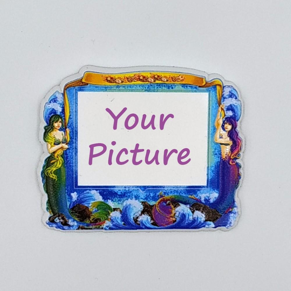 Керамический магнит под вставку Русалки с изображением