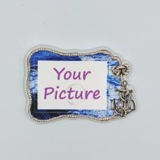 Керамический магнит под вставку Якорь с изображением