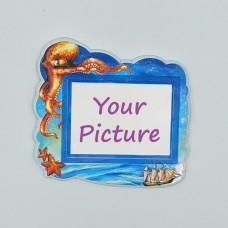 Керамический магнит под вставку Осьминог с изображением