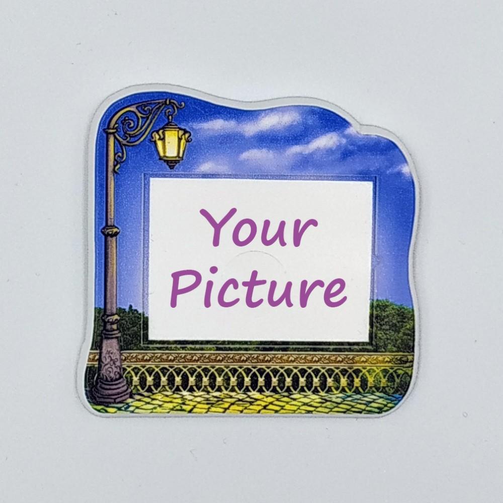 Керамический магнит под вставку Фонарь с изображением