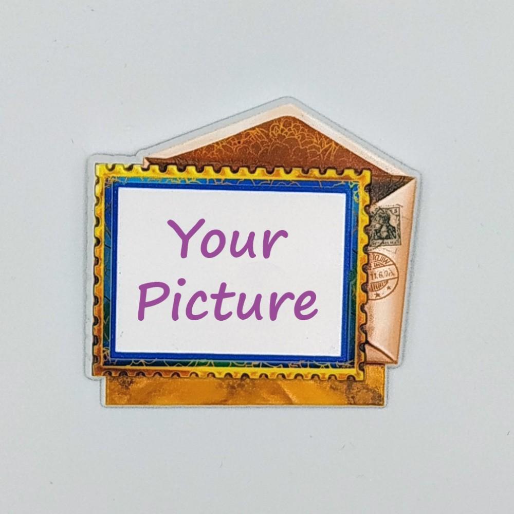 Керамічний магніт під вставку Конверт з листівкою з зображенням