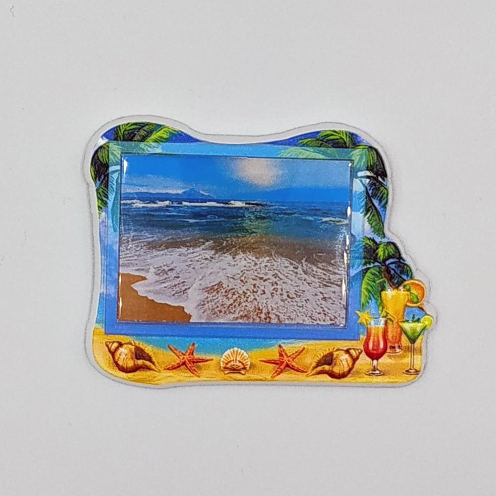 Керамическая заготовка для магнитов под вставку Пляж и коктейли