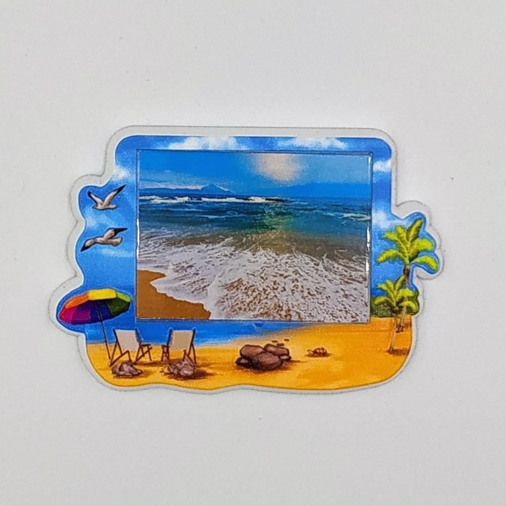 Керамічна заготовка для магнітів під вставку Пляж №2