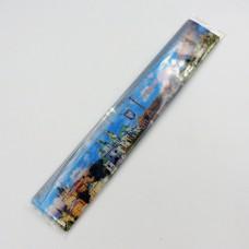 Канцелярська лінійка 20 см з пластику пам'ятки Києва