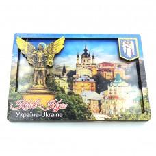 Слойка дерев'яно-акрилова Краєвид Києва