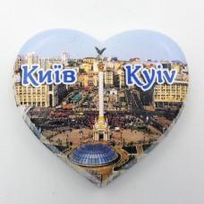 Міні керамічний магніт Серце Майдан