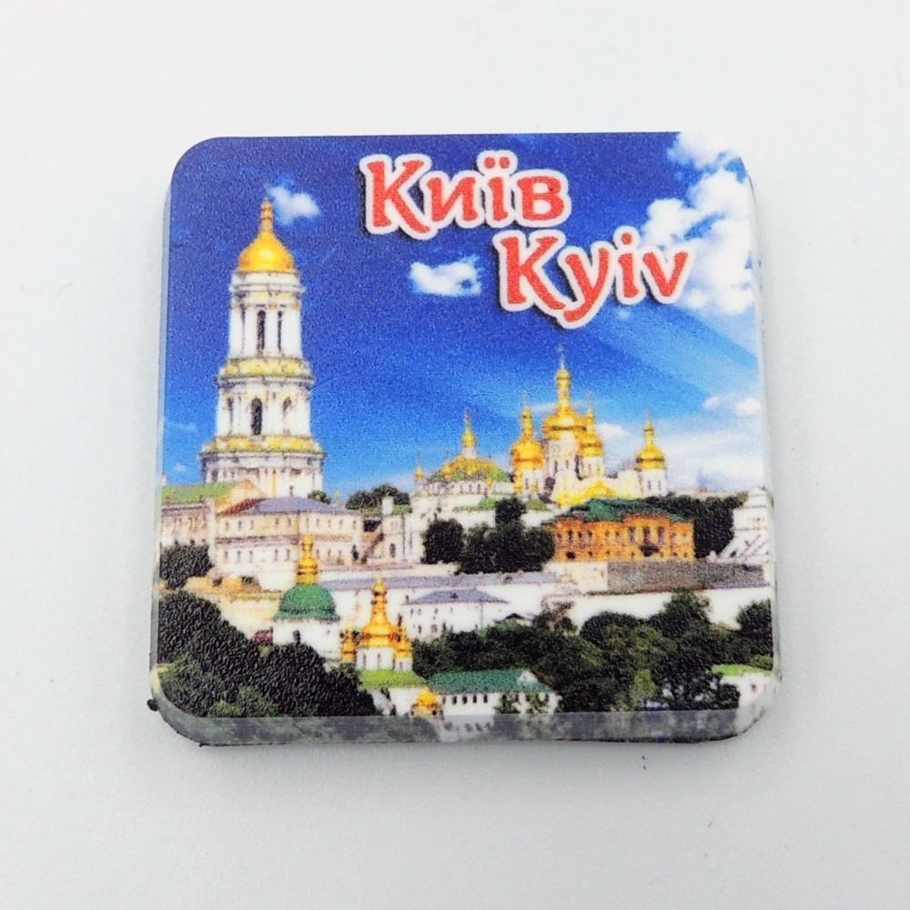 Мини керамический магнит Квадрат Лавра