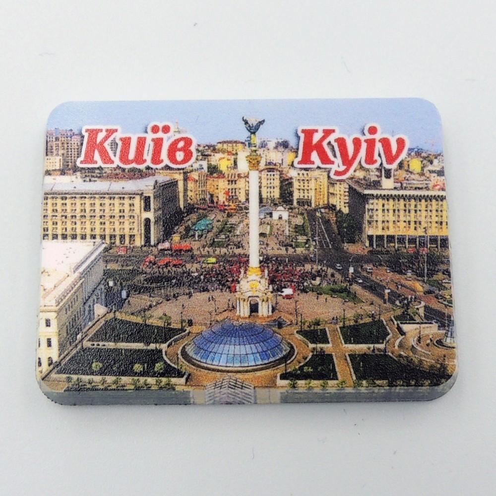 Мини керамический магнит Прямоугольник Майдан