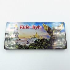 Магніт зворотного друку Краєвид Києва та Архангел
