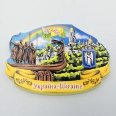 Керамический магнит Основателям Киева