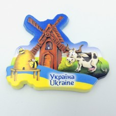 Керамический магнит Украина Мельница