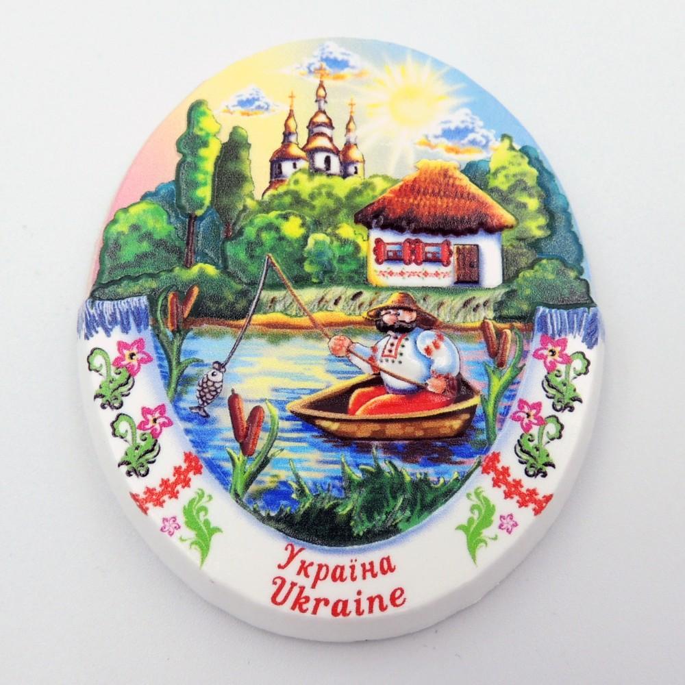 Керамический магнит Украина Рыбачок