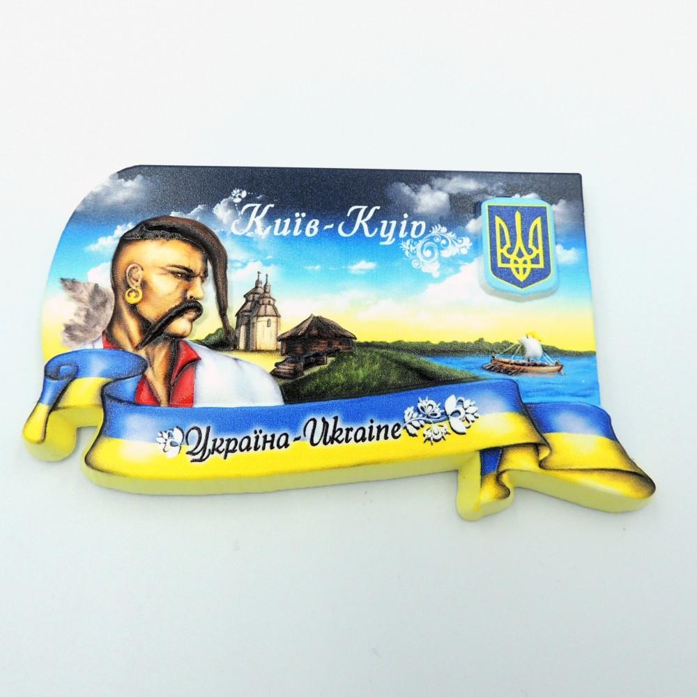 Керамічний магніт Київ Козак з гербом