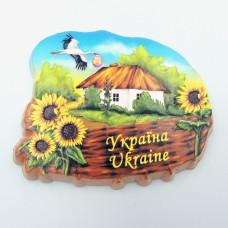 Керамический магнит Украина Хатка