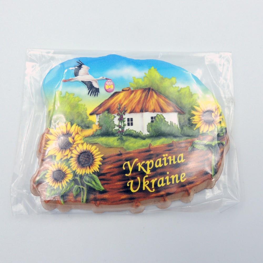 Керамічний магніт Україна Хатинка