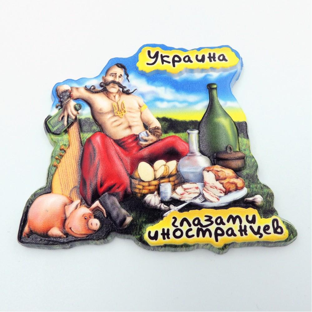 Керамический магнит Украина глазами иностранцев