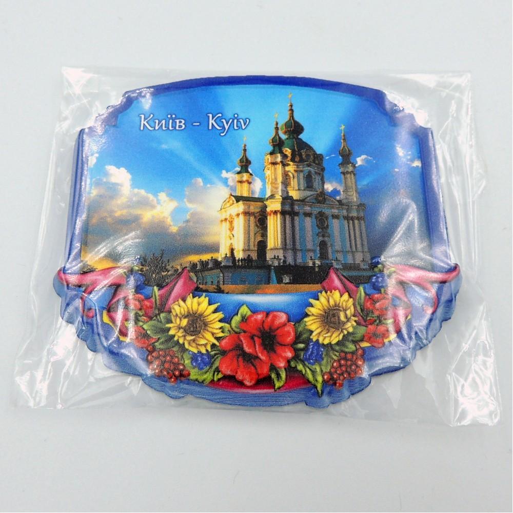 Керамічний магніт Рамка з квітами Київ