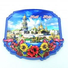 Керамический магнит Рамка с цветами Киево-Печерская лавра