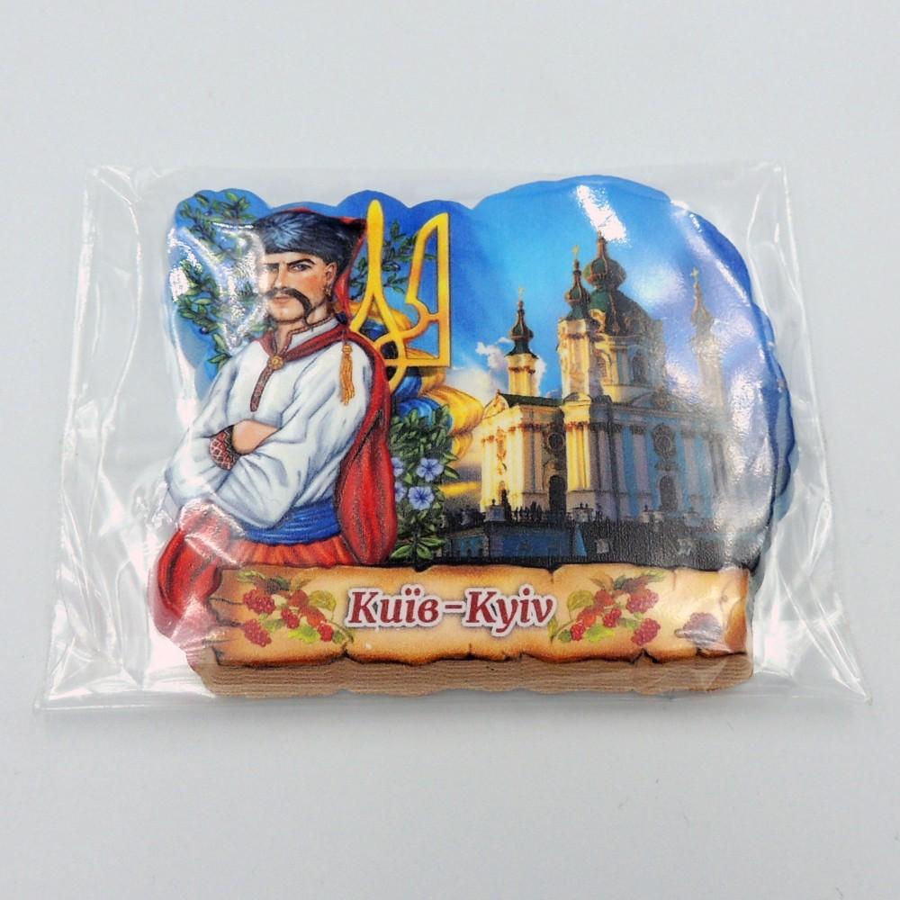 Керамический магнит Козак с гербом Киев