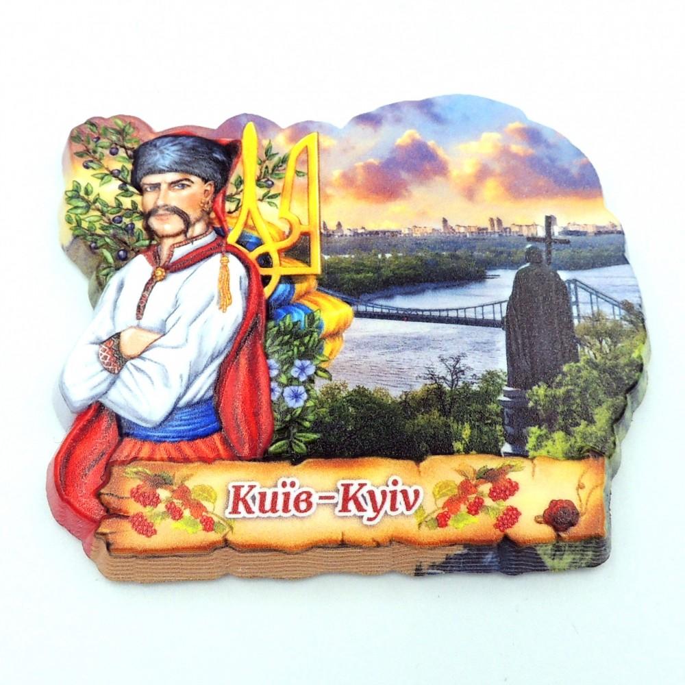 Керамічний магніт козак з гербом Дніпро