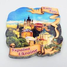 Керамічний магніт Стрічка №2 Види Києва