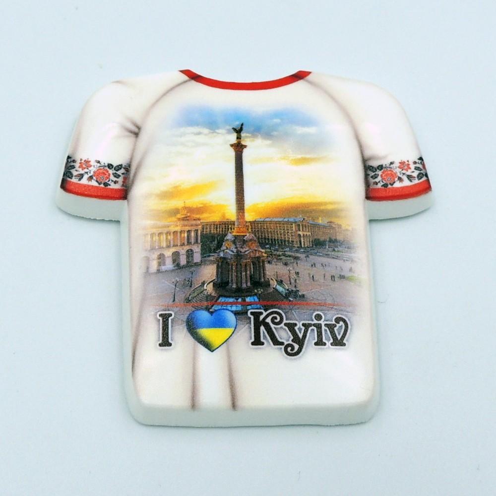 Керамический магнит Футболка Киев