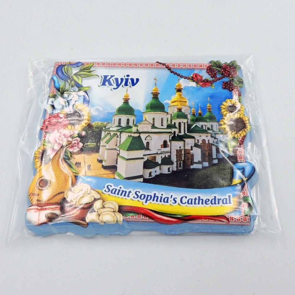 Керамічний магніт бандура з галушками Церква Святої Софії