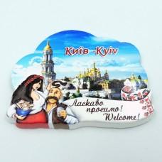 Керамический магнит Добро пожаловать Киев