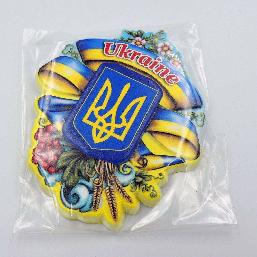 Керамічний магніт Герб святковий Україна