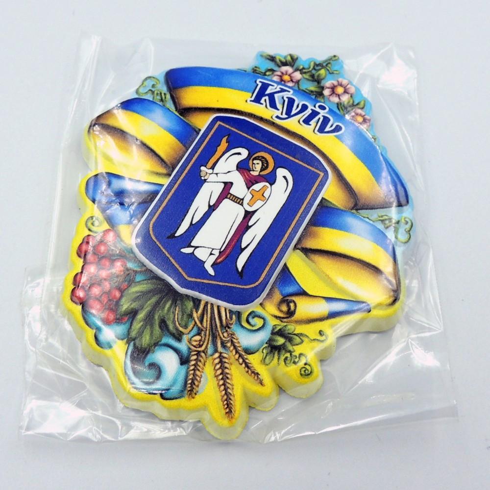 Керамічний магніт Герб святковий Київ