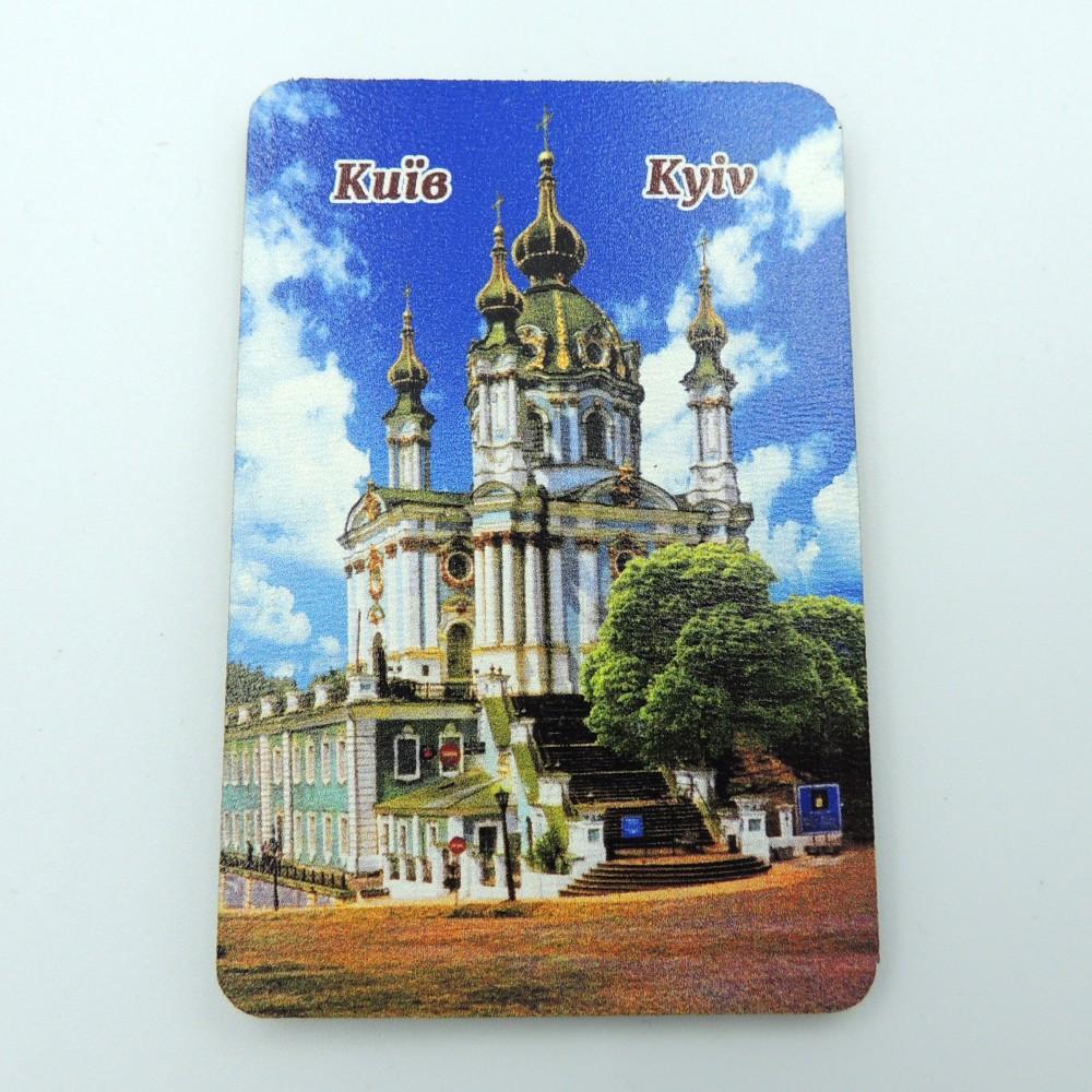 Деревянный магнит Андреевская Церковь Киев