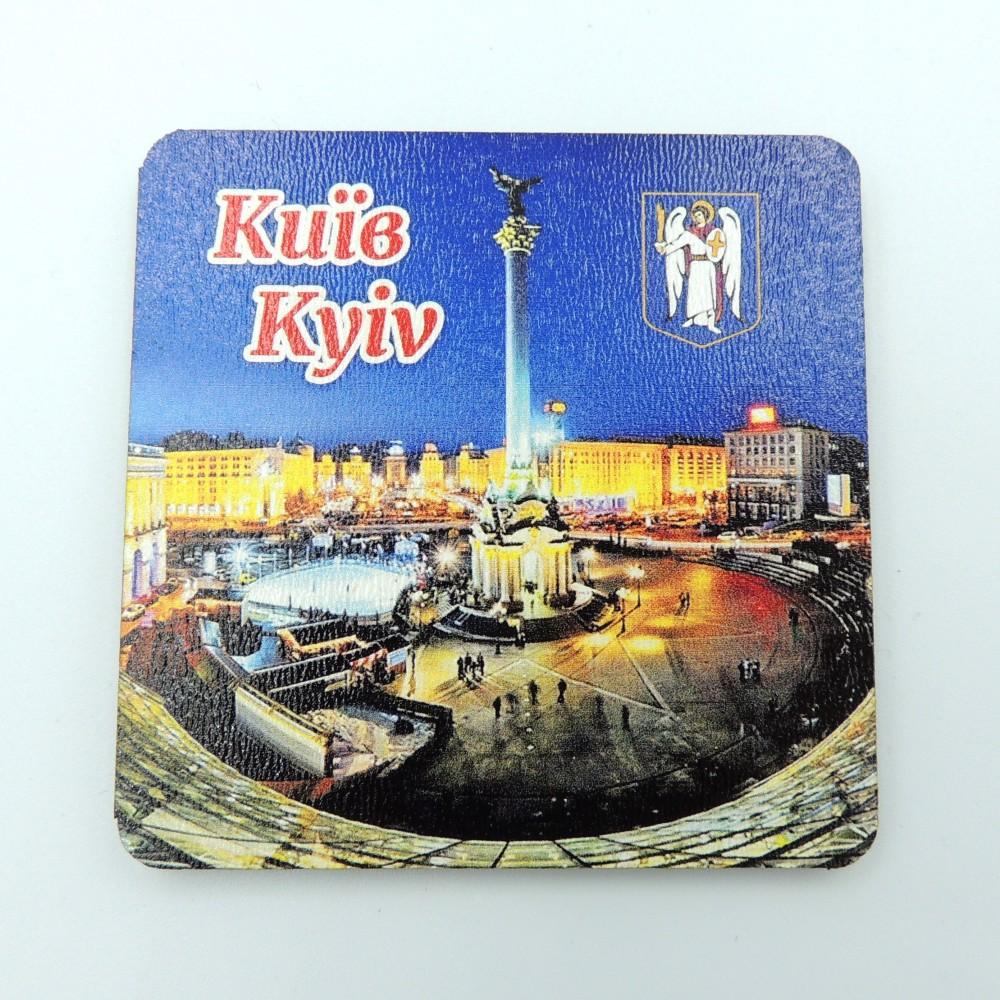 Деревянный магнит квадрат Вечерний Майдан