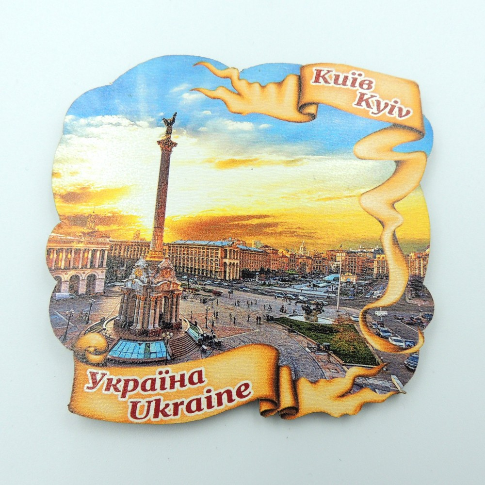 Дерев'яний магніт стрічка Майдан Незалежності