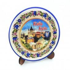 Сувенирная тарелка с платформой 110 мм Киев №2