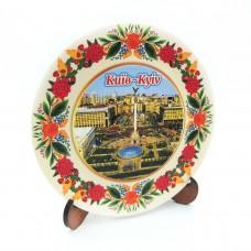 Сувенирная тарелка с платформой 110 мм Киев №6