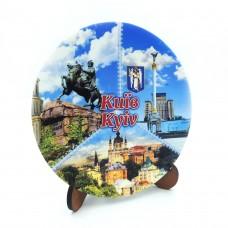 Сувенирная тарелка коллаж 110 мм Киев №7