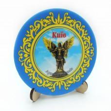 Сувенірна тарілка з пласким дном 110 мм Київ №13