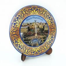 Сувенирная тарелка с плоским дном 110 мм Киев №14