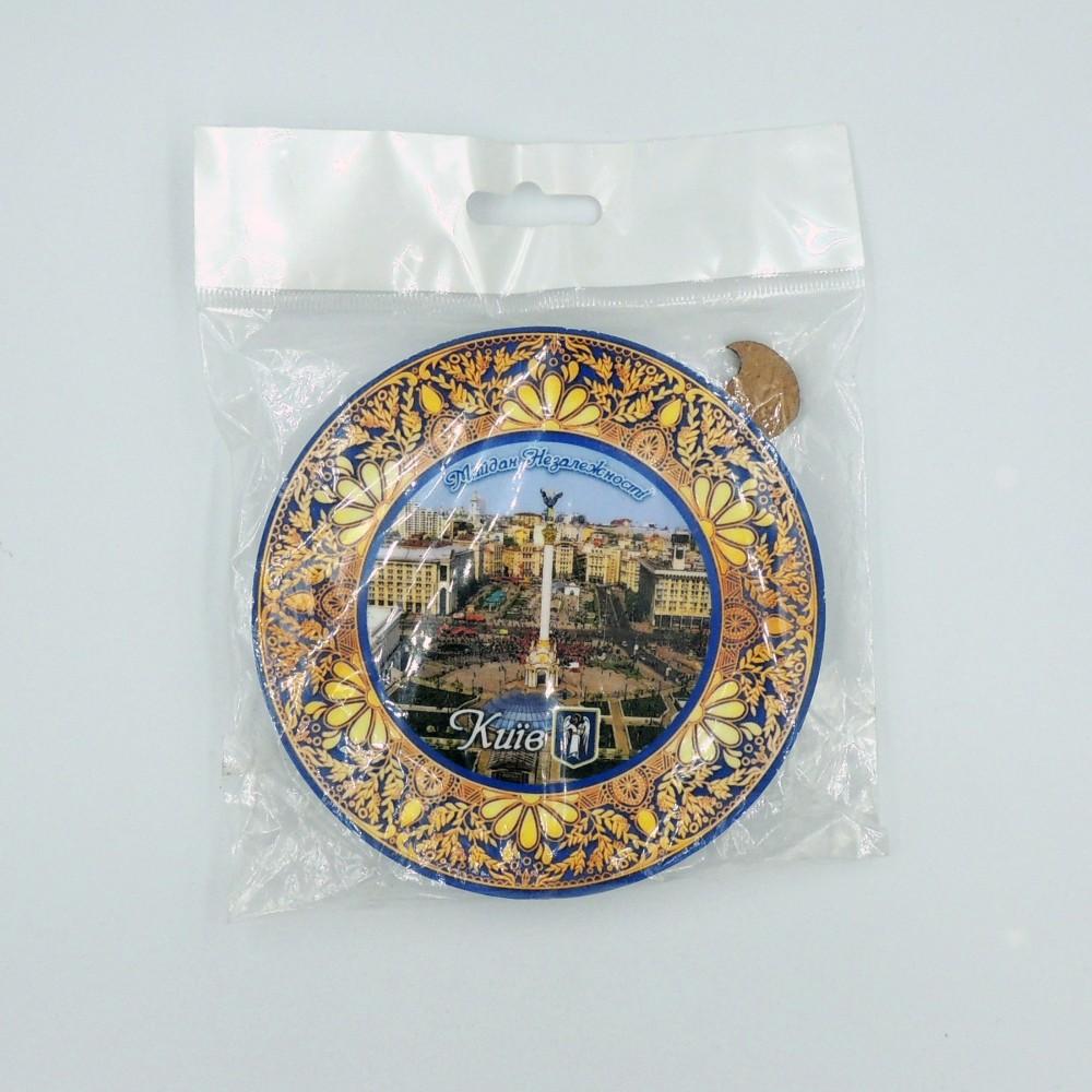 Сувенірна тарілка з пласким дном 110 мм Київ №14