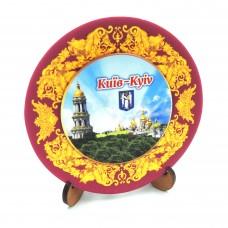 Сувенірна тарілка з платформою 85 мм Київ №4