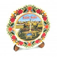 Сувенирная тарелка с платформой 85 мм Киев №6