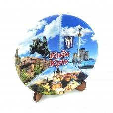 Сувенирная тарелка коллаж 85 мм Киев №7